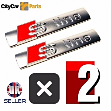 2 PCS S LINE EMBLEM CHROME BADGE STICKER FOR AUDI A3 A4 A6 S4 RS4 S3 S4 TT
